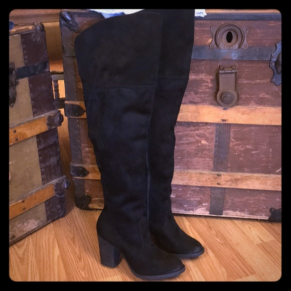 cc2b86657d2 Not Rated over the knee ANDRA boot!!